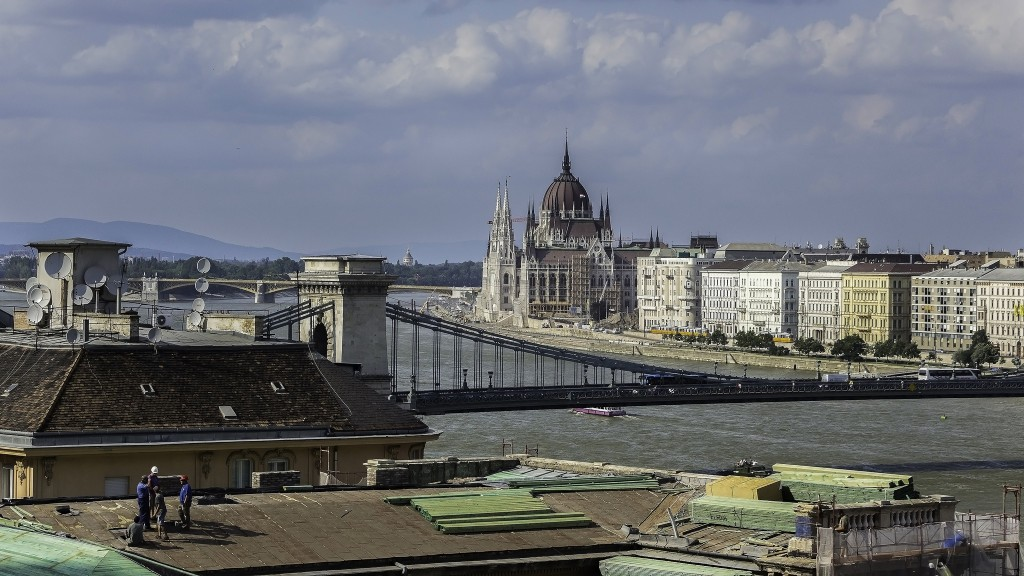 Workers repair a roof in Budapest. Photo by Jan Fidler, via Flickr with Creative Commons License